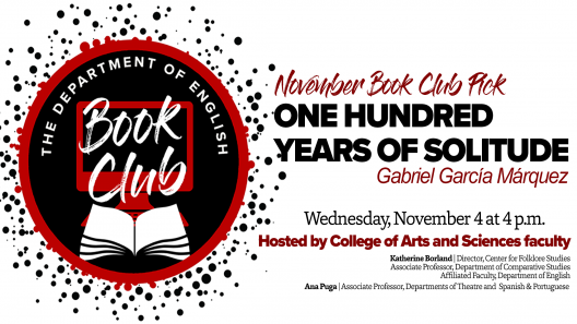 November book club One Hundred Years of Solitude graphic