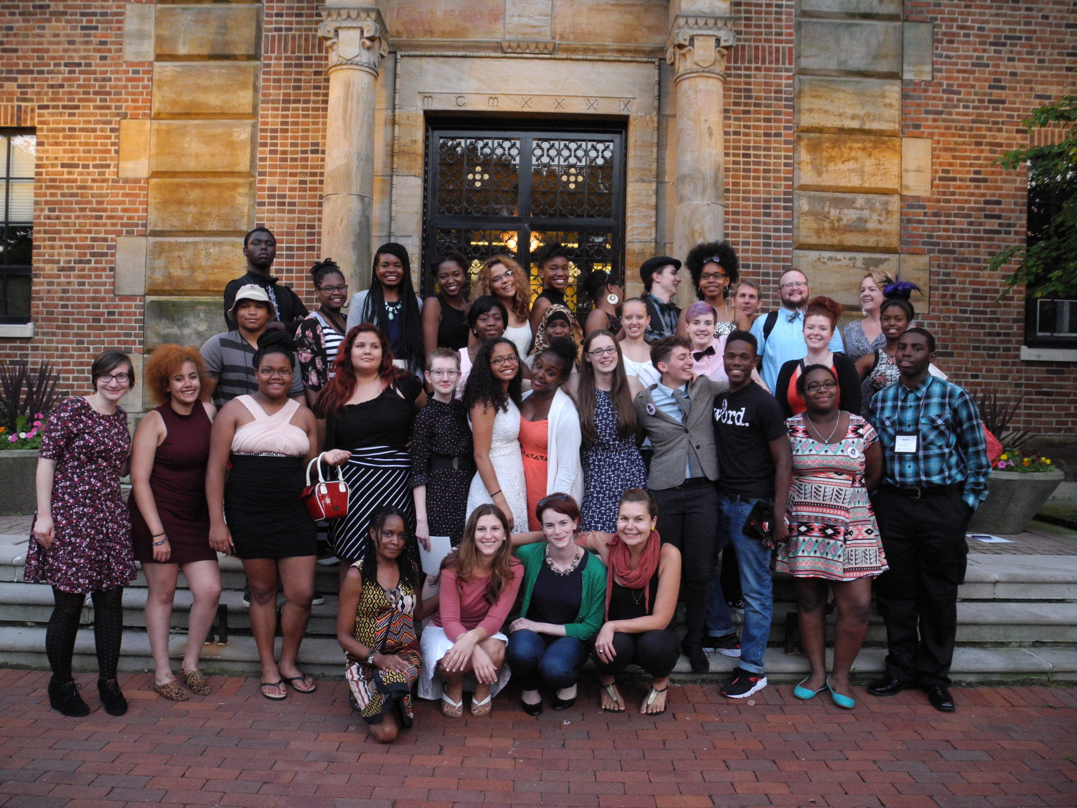 Group photo of 2015 Young Writers Workshop