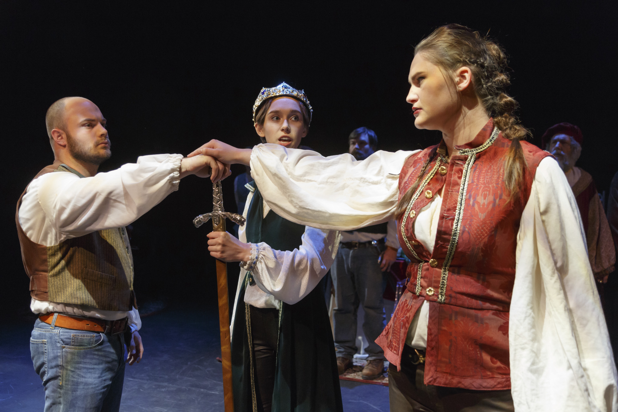 Picture of a Scene From the Richard II Production
